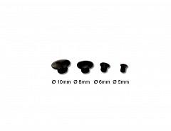 Krytka otvoru, černá, průměr 6mm