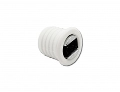 Magnet nábytkový závrtný, bílá, průměr 12mm