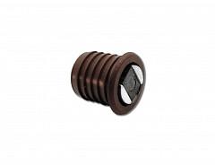 Magnet nábytkový závrtný, hnědá, průměr 12mm