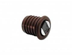 Magnet nábytkový závrtný, hnědá, průměr 14mm