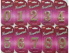 """Číslice """"8"""" na dveře NZ 45mm Ni-broušený """"AKČNÍ CENA BEZ SLEVY"""""""