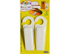 Zarážka dveřní klín - guma bílá (2ks)