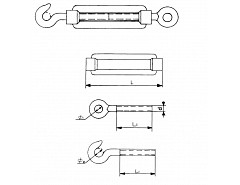 Napínák lana M6x90mm/70kg