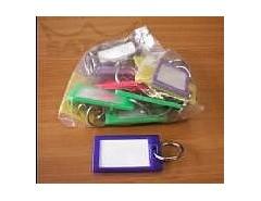 Visačka na klíče MAX-kufrová s kroužkem 25ks - (65 x 39)