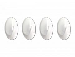 Samolepící háček bílý 24x35mm plast (bli.4ks), ESO