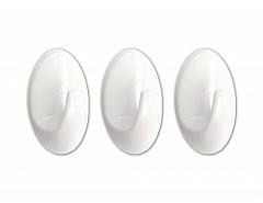 Samolepící háček bílý 30x50mm plast (bli.3ks), ESO