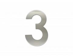 """Číslice """"3"""" fasádní 150mm NEREZ"""