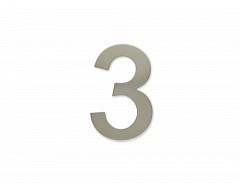 """Číslice """"3"""" 100mm samolepící NEREZ"""