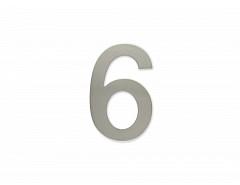 """Číslice """"6"""" 100mm samolepící NEREZ"""