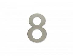 """Číslice """"8"""" 100mm samolepící NEREZ"""