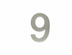 """Číslice """"9"""" 100mm samolepící NEREZ"""