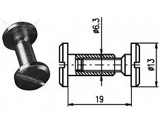 Spojovací kování 19 mm Zn č.8608053A