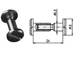 Spojovací kování 24 mm Zn č.8600053A