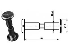 Spojovací kování 32 mm Zn č.8601053A