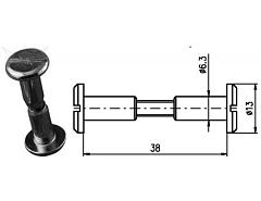 Spojovací kování 38 mm Zn č.8602053A