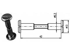 Spojovací kování 42 mm Zn č.8603053A