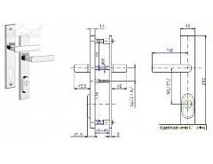 Bezpečnostní kování R4/90mm Cr-nerez bez vložky
