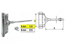 Pružinový zavírač dveřní 60kg F1-91/3