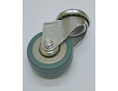 Kolečko 65x19 otočné/otvor pro šroub M10, šedá guma 35 kg