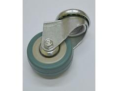 Kolečko 75x21 otočné/otvor pro šroub M10, šedá guma 45 kg