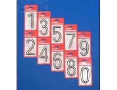 """Číslice """"6"""" na dveře NZ 75mm Bronz"""