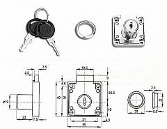 Zámek SISO zásuv.CL-X 850 Ni Z10 14.01.052-2