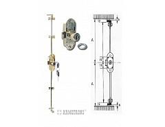 Armstrong Ni 701-22 rozvorový třícest.zámek+2ks tyče 2 x1000mm,(048108)