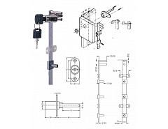 Armstrong Ni666-S 600 KOMPLET/4xzásuvka 9mm centrální+tyč, (048104)