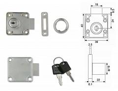 AVES 138-22 Cr zámek zásuvkový SU klíč č. 888