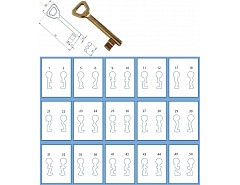 Odlitek obyčejného klíče č 16