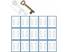 Odlitek obyčejného klíče č 38